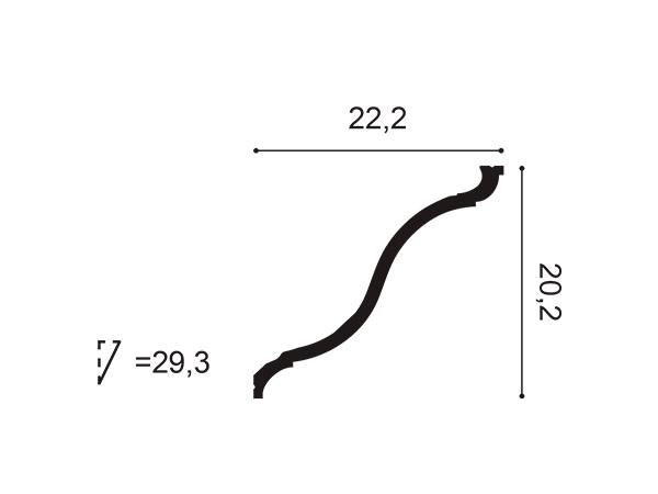 Cornisa exterior Orac Decor C835 - Maproba